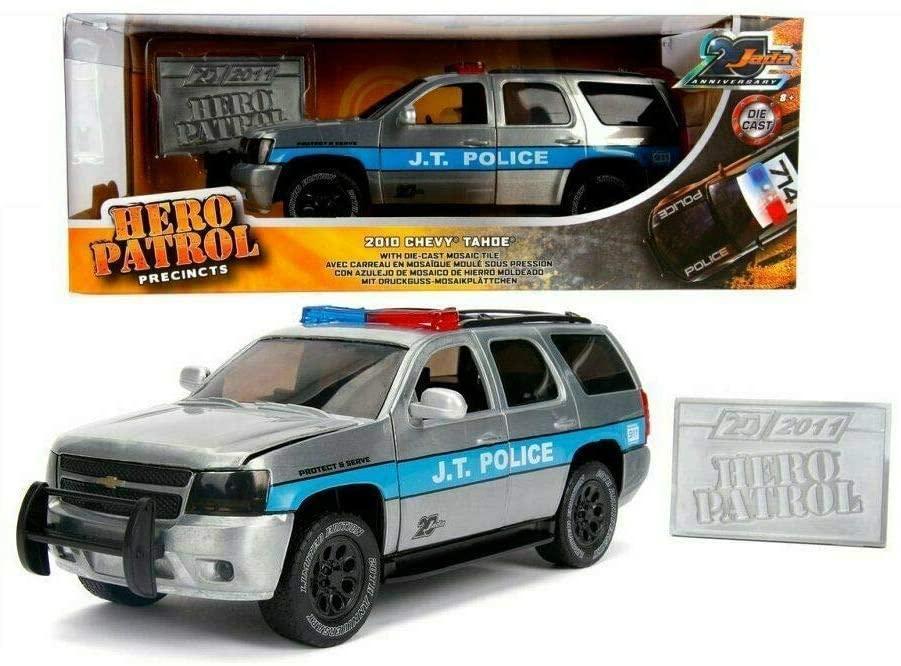 1 24 2010 Chevrolet Tahoe Police Car 20th Anniversary Jada Chevy Hero Patrol