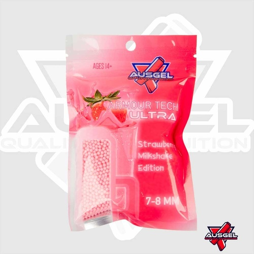 Ausgel Armour Tech ULTRA Pink Gels strawberry milkshake gel balls