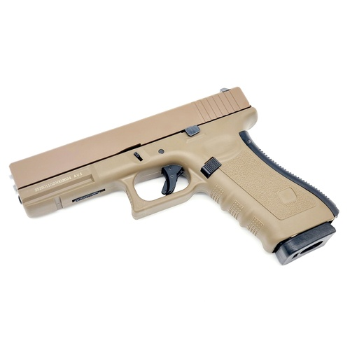 Well G17 CO2 gel blaster - Tan glock 17 gbb