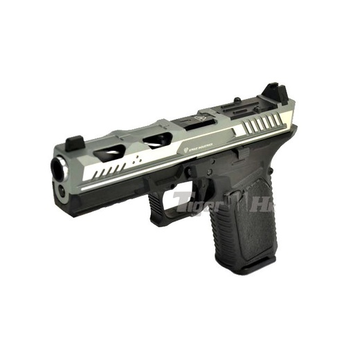 ARK-17 Silver/Black Gas Blowback Gel Blaster, GBB Pistol
