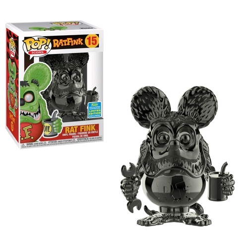 Rat Fink - Rat Fink Grey Chrome SDCC 2019 US Exclusive Pop! Vinyl