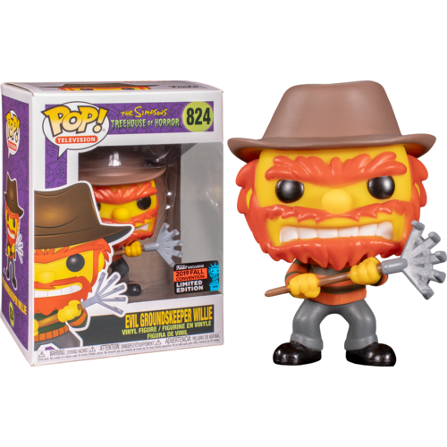 The Simpsons - Evil Groundskeeper Willie NYC 2019 US Exclusive #824 Pop! Vinyl