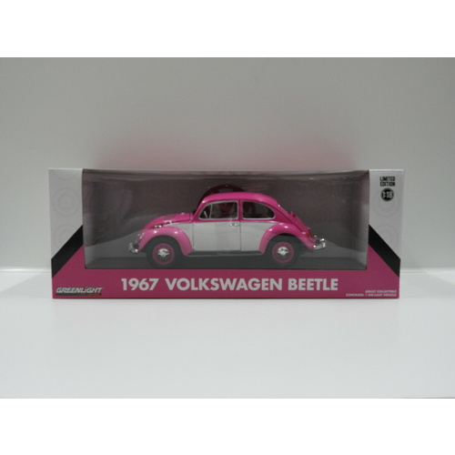 1:18 1967 Volkswagen Beetle (Pink & White) Greenlight
