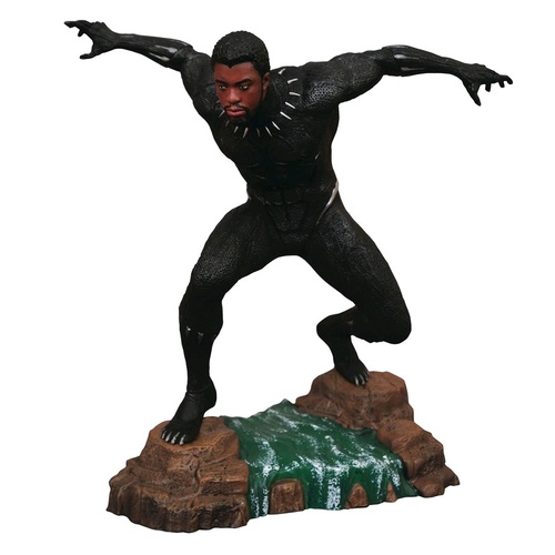 Marvel Movie Gallery Black Panther Unmasked PVC Diorama