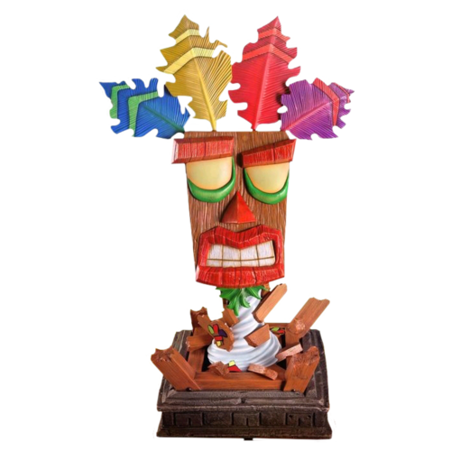Crash Bandicoot - Aku Aku 1:1 Scale Life-Size Replica Statue