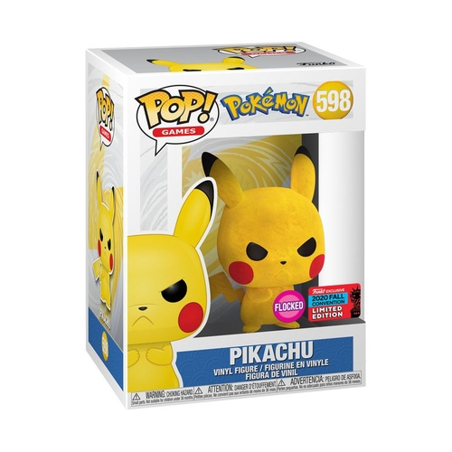Pokemon - Pikachu Grumpy Flocked NYCC 2020 US Exclusive #598 Pop! Vinyl